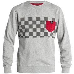 Grauer Pullover mit Brusttasche ab 65,00€ ♥Hier kaufen: http://stylefru.it/s283704 #quiksilver #pulli