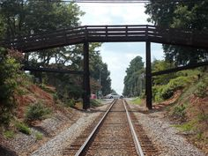 Overhead bridge in downtown Waxhaw.  Stand on the bridge and feel the rumble of the rail cars underneath your feet!