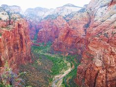 Zion National Park viewed from the top of Angel's Landing.