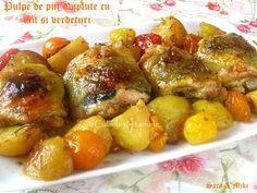 » Pulpe de pui umplute cu unt si verdeturiCulorile din Farfurie Unt, Pretzel Bites, Pork, Bread, Ethnic Recipes, Sweet, Kale Stir Fry, Candy, Brot