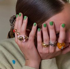 Cute Nails, Pretty Nails, Hair And Nails, My Nails, Nail Ring, Mani Pedi, Nail Inspo, Nails Inspiration, How To Do Nails