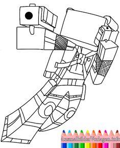 Malvorlagen Skelett Feindliche Kreatur Von Minecraft Ausmalbilder - Minecraft hauser ausmalbilder