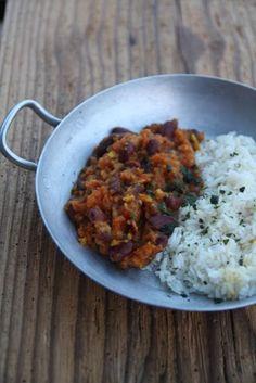 Indian Food Recipes, Asian Recipes, Vegetarian Recipes, Ethnic Recipes, Oriental Food, Le Diner, Fagioli Rossi, International Recipes, Going Vegan