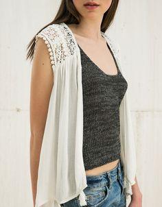 guipure pompon Lingerie, Aeropostale, Hollister, Crochet Top, Calvin Klein, Topshop, Zara, Victoria Secret, Outfits