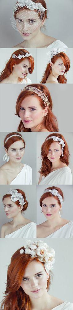Wedding headpieces : Olivia 2014 collection