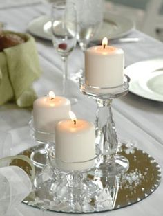 34 creative non floral wedding centerpieces weddingomania another example of non floral simply elegant centerpiece and all white linen junglespirit Images