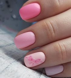 Get New Inspirations With these Pink Simple Nails Art