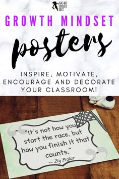 Growth Mindset Posters and decor. This fun resource contains a whopping 101 inspirational and motivational growth mindset quotes to encourage, inspire and motivate: perfect for instantly brightening any classroom, corridor, office or even home! #growthmindset #classroomdecor #classroomposters Growth Mindset Display, Growth Mindset Posters, Character Education, Character Development, Personal Development, Inspirational Classroom Posters, Growth Mindset Activities, Responsive Classroom, Corridor