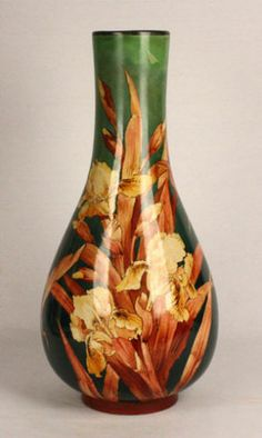 Antique Lambeth Doulton Art Nouveau Vase Artist Signed 19th Century 1800s | eBay