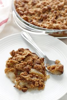 Deerfield Academy's 'famous' and legenday Apple Crisp.  I remember hearing about it when I was in college in Boston.  Looking forward to finally trying it!