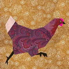 Chicken Run Quilt Block Paper Pieced Quilt Pattern Pdf