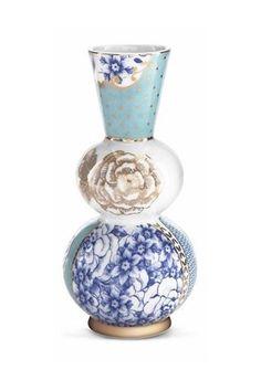 Show details for Royal vase round blue