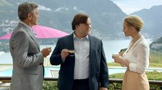 Former Neighbours star Nicky Whelan stars in Nespresso ad with George Clooney and Jack Black.
