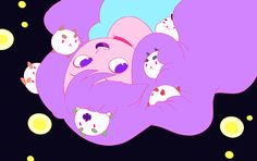 Bee and Puppycat dream sequence. We're digging the lavender hair.