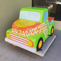 Have you seen the cute little trucks throughout downtown #Bakersfield? This one is in front of the Chain   Cohn   Stiles building. It's part of a great public art project that you can learn more about at bmoa.org.