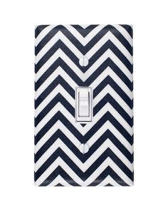 Chevron Black and White Switchplate on Etsy, $6.00