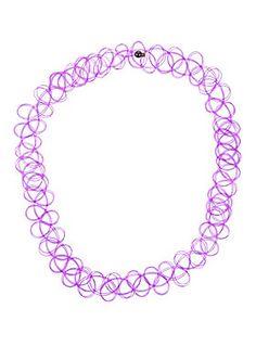 <p>Tattoo style purple stretch choker.</p>  <ul> <li>One size</li> <li>Imported</li> </ul>