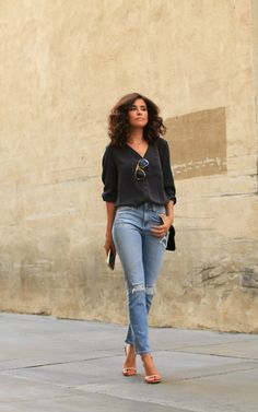 37 Trendy How To Wear Casual Outfits Simple Style Fashion Oufits Casual, Casual Outfits, Cute Outfits, Casual Hair, Denim Outfits, Ag Jeans, What Is Fashion, Look Fashion, Denim Fashion