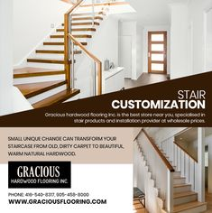 Gracious Hardwood Flooring Inc. is the best store near you, specialist in stair products and installation provider at wholesale prices. PHONE: 416-540-8317, 905-458-8000 EMAIL: GRACIOUSHARDWOOD@YAHOO.COM Cheap Hardwood Floors, Stairs, Flooring, Warm, Phone, Beautiful, Home Decor, Products, Stairway
