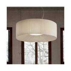 """Masiero Tessuti Round Drum Pendant - Large 35.5"""" diameter - $2,463.80 trade price - idea for living room pendant"""