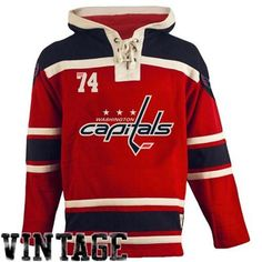 Men s Washington Capitals Old Time Hockey Red Home Lace Heavyweight Hoodie 664273208