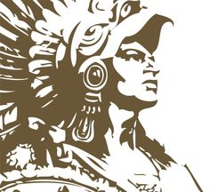 Aztec Warrior Drawings | aztec warrior photo: aztec_warrior_head_trans.png