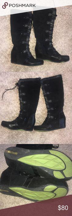 Jambu mulberry wedge boots Jambu mulberry lace up wedge boots Jambu Shoes Lace Up Boots