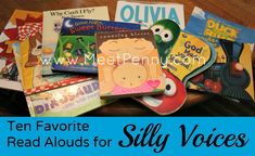 I love this post. 10 favorite books for reading with silly voices
