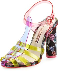 Webster Sophia Rosa Jelly Pineapple Sandal, Violet/Yellow on shopstyle.com