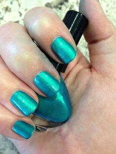 """Blue Lagoon"" by milly. Hand blended nail lacquer"
