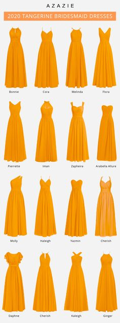 Azazie offers colors for you to choose from, We also provide more than trendy styles for you to choose from. Available in full size range and free custom sizing. Long Dress Design, Stylish Dress Designs, Designs For Dresses, Stylish Dresses, Indian Gowns Dresses, Indian Fashion Dresses, Girls Fashion Clothes, Tangerine Bridesmaid Dresses, Dress Design Sketches