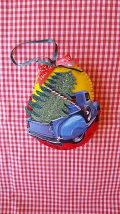 Old Truck felt ornament SET OF 2-Felt and by DebsArtsyEnchantment