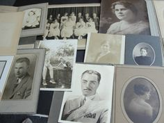 For your consideration is a Lovely Vintage group of (14) old black-white photographs from early 1900's to middle 1930's.  There are 14 different styles
