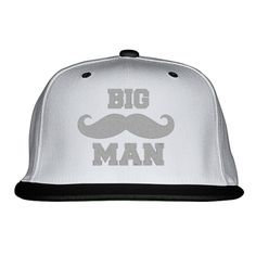 Big Man Embroidered Snapback Hat