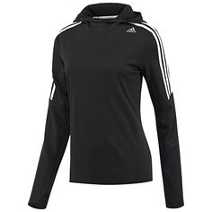 Keep pace with chilly weather in the women's Response Icon Hoodie. Made in a soft moisture-wicking climalite® polar fleece fabric, this running sweatshirt has thumb holes on the cuffs.