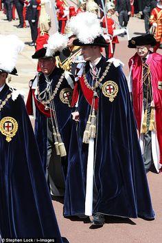 Орден Подвязки 2018 года принц Чарльз и принц Уильям
