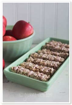 candy apple granola bars - THM E