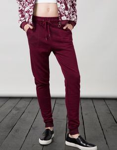 BSK basic cuffed terry trousers - Basics - Bershka Slovakia