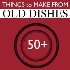 Over 50 Projects to Make from Dishes! by gabrielle