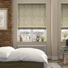 Pentillie Natural Green Roman Blind from Blinds 2go