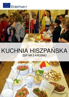 """Książka kucharska zawiera przepisy na potrawy hiszpańskie, które zostały przygotowane w trakcie Dnia Hiszpańskiego w ZSP Nr 2 w Krośnie w ramach podsumowania projektu """"Międzynarodowy dialog zawodowy"""" (Erasmus+)"""
