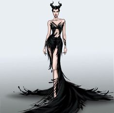 Maleficent - Mistress of Evil Dress Design Sketches, Fashion Design Sketchbook, Fashion Design Drawings, Fashion Sketches, Images Disney, Disney Art, Maleficent Movie, Malificent, Maleficent Drawing