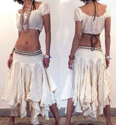 """GYPSY HIPPY BOHO PIXIES 500"""" FULL HIPPIE SKIRT F17 Image. - l love the skirt, just need a bit more modesty with top"""