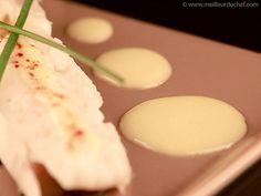SAUCE AU VIN BLANC (fumet de poisson, vin blanc, crème, beurre, sel/poivre) - Avec médaillons de porc et linguines, pavé de saumon, bar, filet de sole ou cabillaud