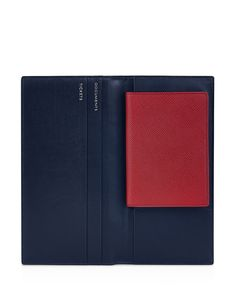 "Smythson Slim Travel Wallet  | Leather | Made in England | 4.75""H x 9.25""W  