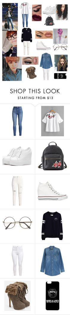 """""""Date With Them....Oh I Love Him"""" by nickysmouse ❤ liked on Polyvore featuring Charlotte Russe, Converse, Masquerade, Dolce&Gabbana, JustFab and David's Bridal"""