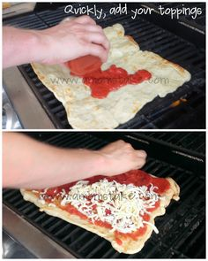 Grilled Pizza on the Grill Recipe