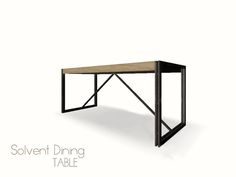 Part of the Solvent Dining Set  Found in TSR Category 'Dining Tables'