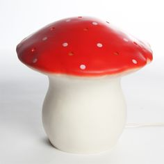 Heico mushroom & toadstool lamp and night light for kids red- Egmont lamp- Petit Home