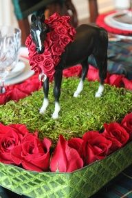 A Horse Centerpiece For The Kentucky Derby. Derby Time, Derby Day, Bourbon, Run For The Roses, Horse Birthday, Birthday Ideas, 90th Birthday, Birthday Parties, Horse Cake